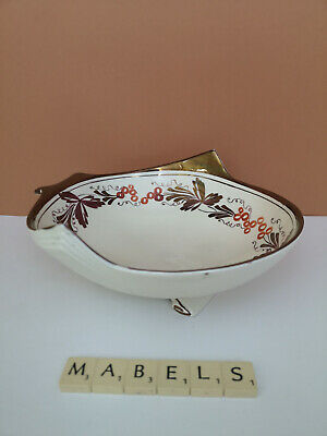 GRAY'S POTTERY ~HAND PAINTED LUSTRE A8253~ Footed Bowl C.1946 • 14.99£