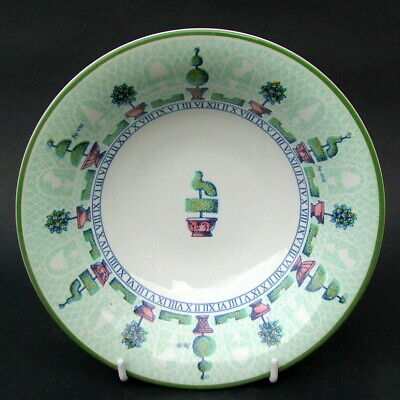 Staffordshire Tableware Topiary Pattern Soup Cereal Dessert Bowls 18cm - In VGC • 4.95£