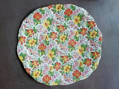 Chintz Floral Plate • 15£