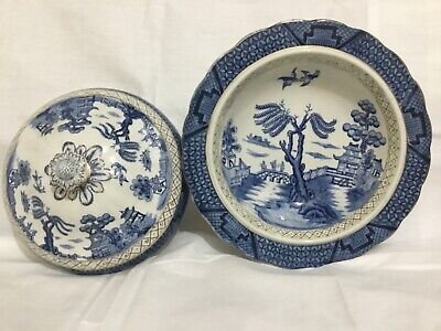 A.G.Harley.Wilton Ware   Ye Old Chinese Willow  Tureen. • 18.99£