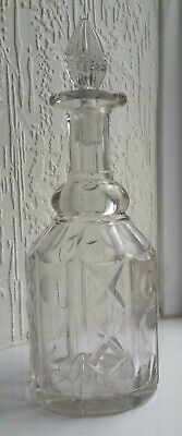 Vintage Square Decanter With Stopper Total H29cm W10cm  • 9.99£
