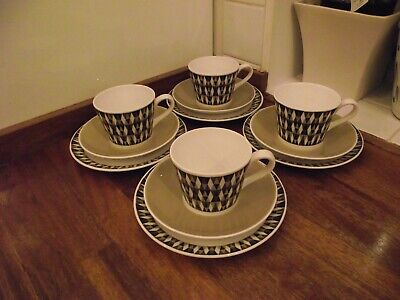 Royal Tuscan Bone China Concerto Pattern Cup, Saucer & Side Plate (Trio's) Qty 4 • 19.87£