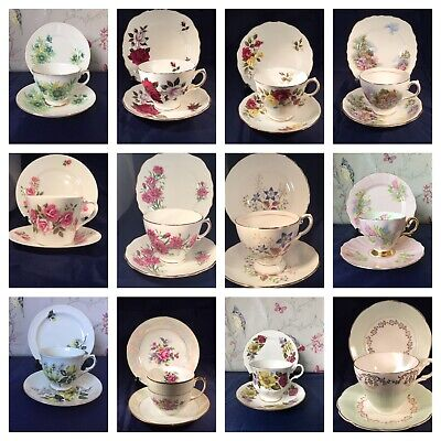 Various Pretty Vintage China Trios China Cups Plate Saucers  • 3.95£