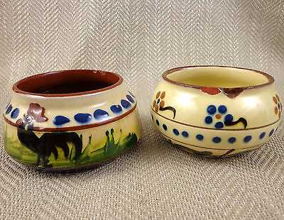 Motto Ware Pottery Bowls Longpark Hand Painted Vintage Torquay Devon  • 16£