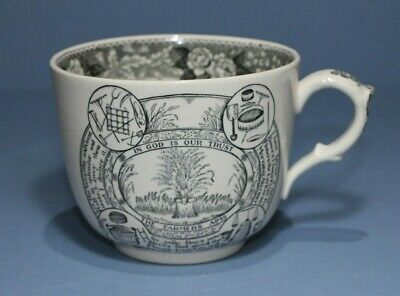 Antique Adams Staffordshire Large Cup.  ' The Farmers Arms ' • 40£