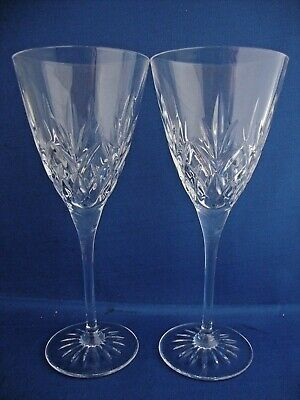 2 X Thomas Webb Crystal Romeo Large Wine Glasses - Signed • 19.95£