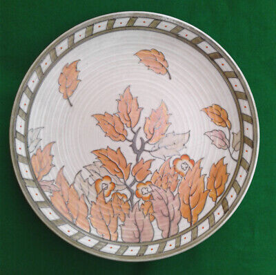 """Charlotte Rhead Crown Ducal Charger - """"golden / Autumn Leaves"""". • 69.99£"""