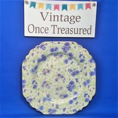 Lord Nelson Pansy Chintz - Vintage Square Cake / Sandwich Plate (8.5 ) -  VGC • 10.98£