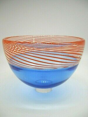 Signed Dated James Maskrey Contemporary British Art Hot Glass Bowl Collectable • 109£