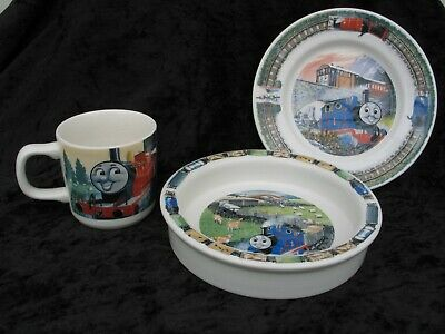 Thomas The Tank Engine Plate Cup & Bowl Set Wedgewood China Excellent Condition • 24.99£