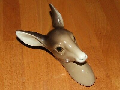 Vintage Mid Century Deer Head W R Midwinter Burslem Wall Hanging • 12£