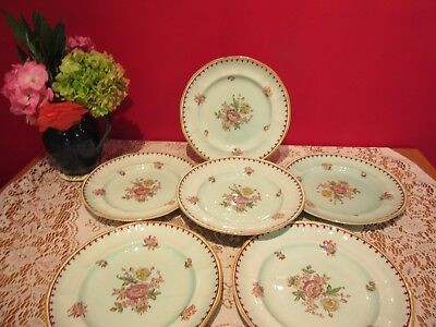 Lovely Vintage Adams Calyx Ware Chelsea Sprays Red  9  Salad/dessert Plates X 6  • 20£