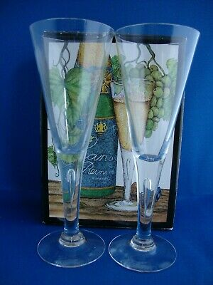 2 X Dartington Handmade Crystal Sharon Champagne Flutes FT115/4 Boxed  • 34.95£