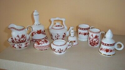 Coalport Miniature Collection Indian Tree Mulberry & White 10 Pieces Bells, Egg  • 16£