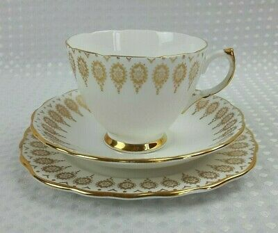 Royal Vale Bone China Gold Gilt Vintage Tea Trios- Sold Individually -Excellent • 8£