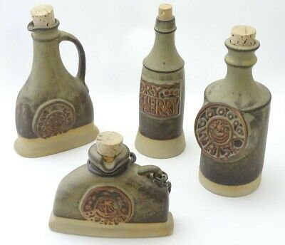 4 Remar Cornwall Pottery Alcohol  Bottles • 29.99£