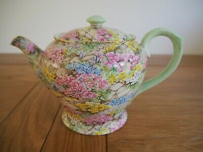 Vintage Very Rare Shelley 'Rock Garden' Teapot 13359 • 299.99£