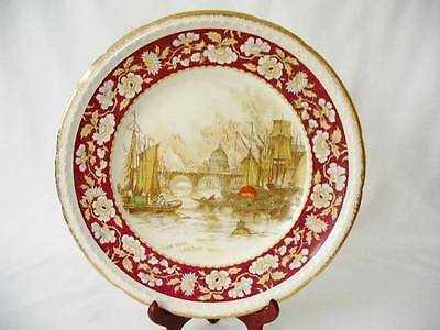 Swinnertons Staffordshire Cabinet / Display Plate - The Pool, London 1830 - • 39.99£