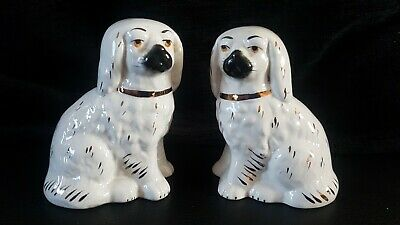 Small Staffordshire Dogs Vintage Mantle Dogs Pair 4 Inches  • 14.99£