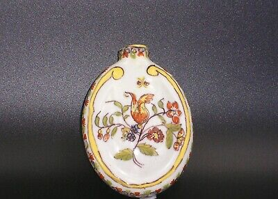 French Faience Snuff Bottle,  From La Malicorne Or Desvres. • 50£