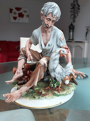 Capodimonte Breakfast Time Tramp Perfect Condition.pristine .collection Only • 30£