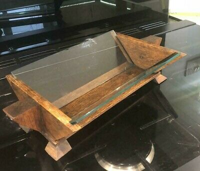 Lovely Antique Art Deco Fruit Bowl Dish Wood And Glass • 19.95£