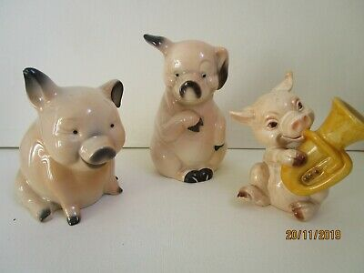 Goebel Collection Of 3 Pigs • 10£