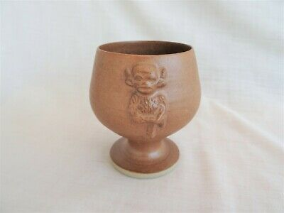 Handmade LINCOLN IMP Pottery Cup Goblet By Jerry Harper, Lincoln Minster • 8.90£
