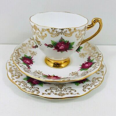 Roslyn Trio Bone China Cup Saucer Plate • 7.50£