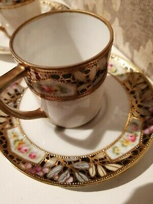 Lovely Antique Noritake Coffee Can And Saucer. • 8£