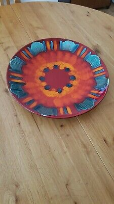 Poole Pottery Volcano Plate • 14£