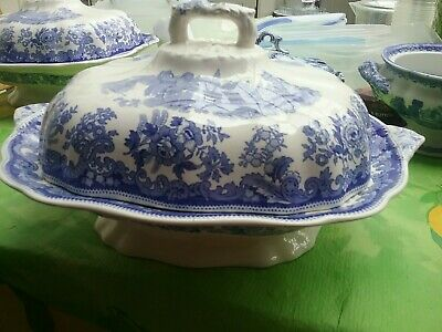 Spode Blue Copeland Tureen With Lid Large Approx 30 Cm • 40£