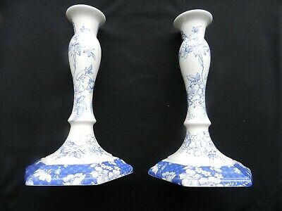 Pair Of Spode Candle Stick Holders. Penny Lane/ Honeywall White - 58/a2 • 14.99£