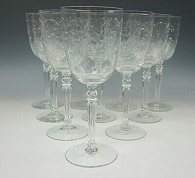 Lot Of 10 Fostoria Crystal CHRISTIANA Water Goblets EX • 91.65£