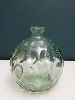 100% Recycled Glass Made In Spain Balloon Bottle Vase 7  • 16.99£