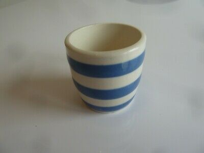 Cornish Ware Blue White Striped Egg Cup • 1.99£