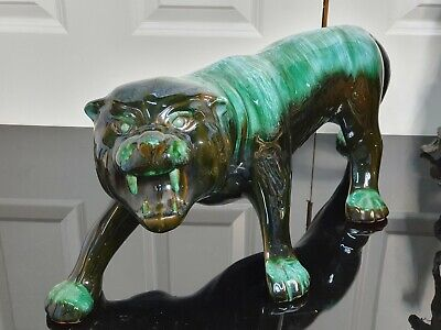 Blue Mountain Pottery Large Tiger Figure. • 49.99£