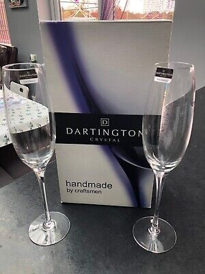 BNIB Dartington Crystal Champagne Flutes NEW • 19.99£