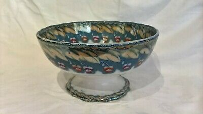 Antique Scottish Toddy Bowl J & Mp Bell Glasgow Pottery  British & Foreign Birds • 35£