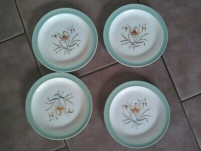 4 X Wedgwood Tiger Lily Pattern Side Plates • 7.50£
