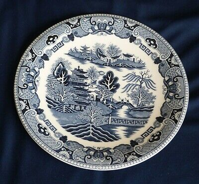 Willow Patterned Blue China Plate In Very Good Condition • 0.99£
