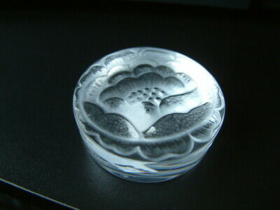 Lalique Crystal  FLOWER  Small Paperweight  Rare Item • 85£