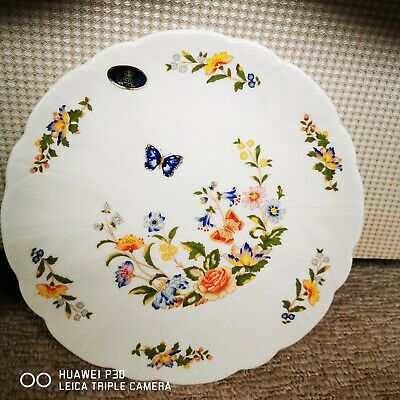Cottage Garden China 1775 Aynsley Large Plate • 3.10£