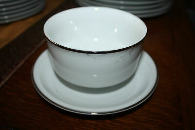 Thomas China  Arzberg Platinum Silver Fine Rim Sauce Gravy Bowl With Fixed Stand • 15£