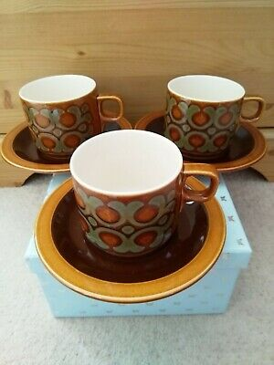 Vintage Hornsea Bronte. Cup And Saucer X3. (Set 2) • 11.99£