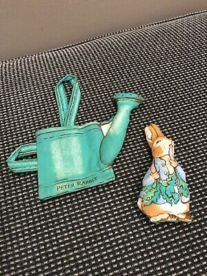 Peter Rabbit 1984 Cloth Watering Can & Rabbit Soft Toy Anne Wilkinson Designs • 4.95£