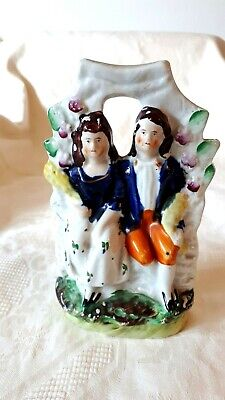 Staffordshire Couple In Arbour Flatback • 7.50£