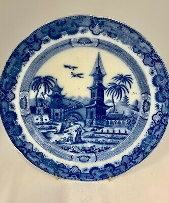 Antique Pearlware Pottery Plate Circa 1815 • 65£