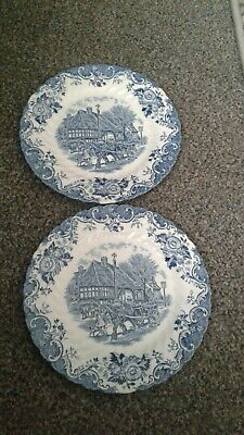 2 Small English Country Life Johnson Brothers Stoke On Trent Side Plates... • 0.99£