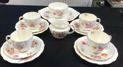 Royal Crown Derby   Derby Posies   15 Piece Tea Set Excellent Condition • 39.95£